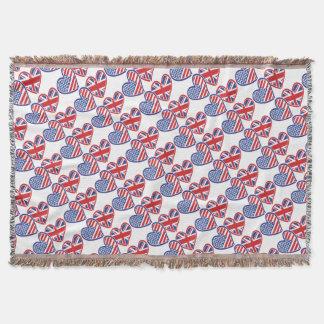 USA---UK-Love Throw Blanket