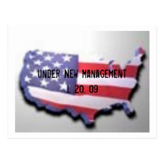 USA , Under New Management 1. 20. 09 Postcard