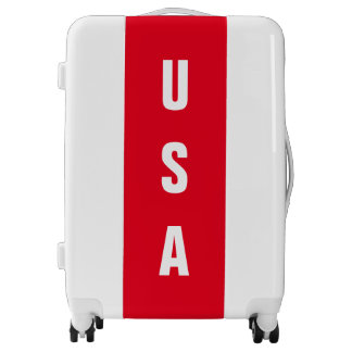 USA United States Of America Red White Patriotic Luggage