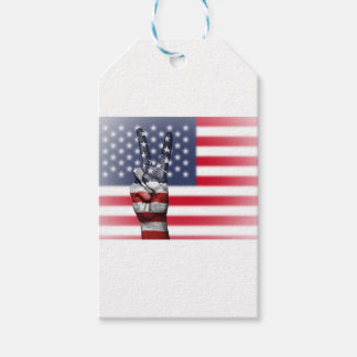 Usa United States Us America Peace Hand Nation Gift Tags