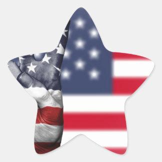 Usa United States Us America Peace Hand Nation Star Sticker