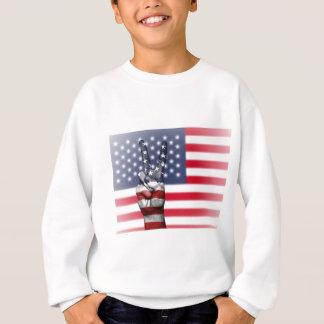 Usa United States Us America Peace Hand Nation Sweatshirt