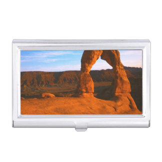USA, Utah, Arches National Park, Delicate Arch Business Card Holder