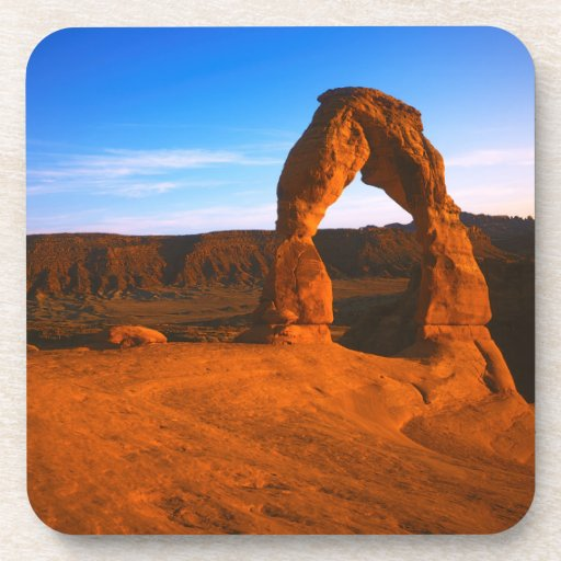 USA, Utah, Arches National Park, Delicate Arch Drink Coasters