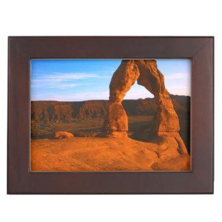 USA, Utah, Arches National Park, Delicate Arch Keepsake Box
