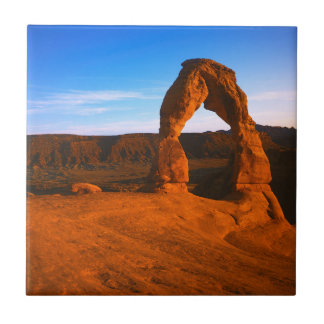USA, Utah, Arches National Park, Delicate Arch Small Square Tile