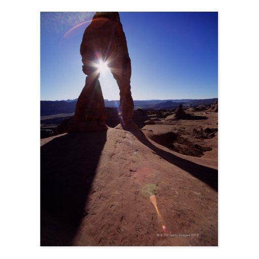 USA, Utah, Arches National Park, sun shining Post Cards