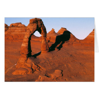 USA, Utah, Arches NP. Delicate Arch is one of Greeting Card
