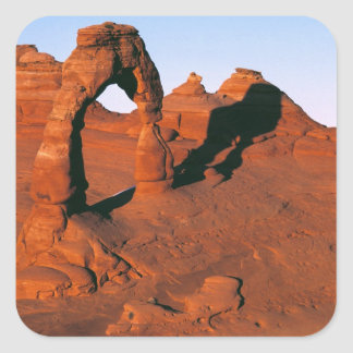 USA, Utah, Arches NP. Delicate Arch is one of Square Sticker