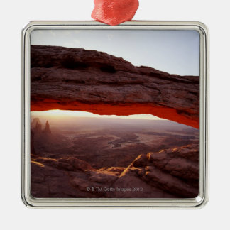 USA, Utah, Canyonlands National Park, sunrise Metal Ornament
