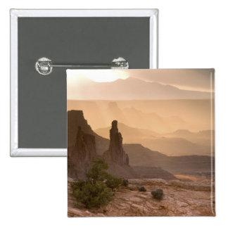 USA; Utah; Canyonlands National Park. View of 15 Cm Square Badge