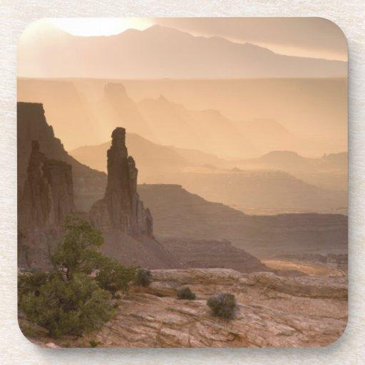 USA; Utah; Canyonlands National Park. View of Drink Coasters