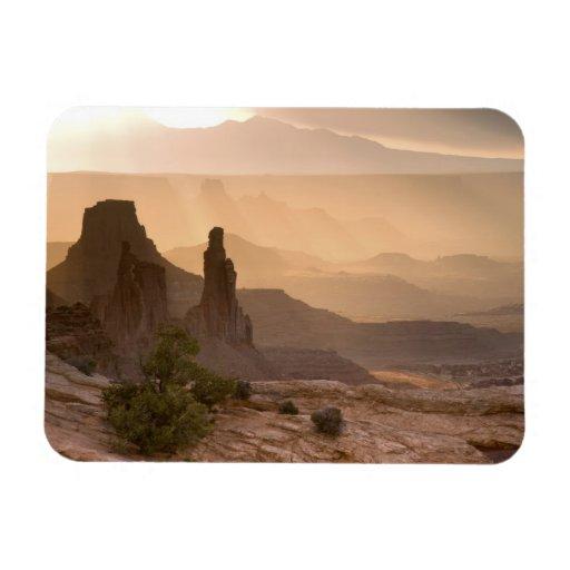 USA; Utah; Canyonlands National Park. View of Rectangle Magnet