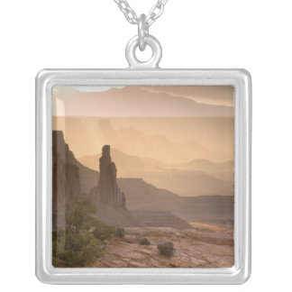 USA; Utah; Canyonlands National Park. View of Square Pendant Necklace