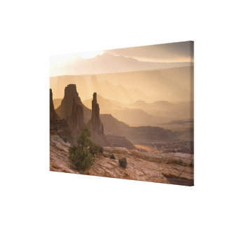 USA; Utah; Canyonlands National Park. View of Stretched Canvas Print