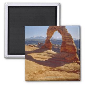 USA, Utah, Delicate Arch Square Magnet