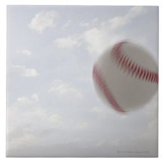 USA, Utah, Lehi, Baseball against sky Ceramic Tile