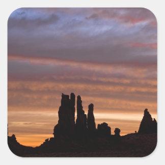 USA, Utah, Monument Valley National Park. 2 Square Sticker