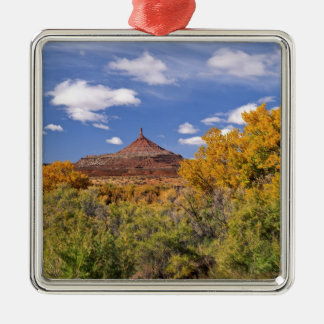 USA, Utah, near Canyonlands National Park on Silver-Colored Square Decoration