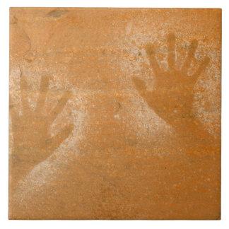 USA, Utah, Pictograph Hand-prints on sandstone, Ceramic Tile