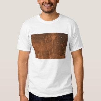 USA, Utah. Prehistoric petroglyph rock art at 2 T-shirt