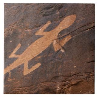 USA, Utah. Prehistoric petroglyph rock art at Tile