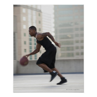 USA, Utah, Salt Lake City, Young man playing Poster