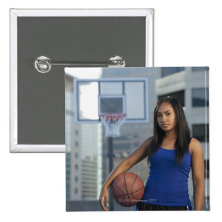 USA Utah Salt Lake City young woman holding Pin