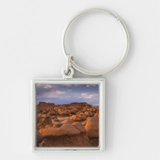 USA; Utah. View of Goblin Valley State Park at Silver-Colored Square Key Ring
