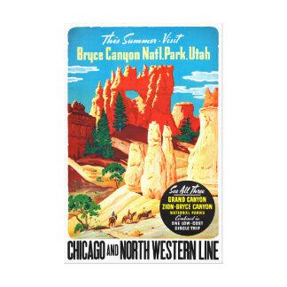 USA Utah Vintage Travel Poster Restored Canvas Print
