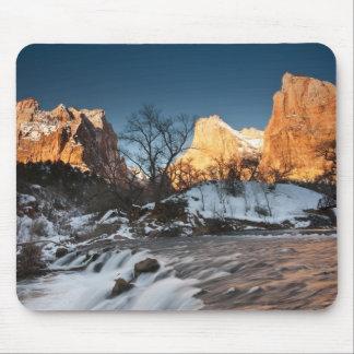 USA, Utah, Zion National Park. Mountain sunrise Mouse Pad