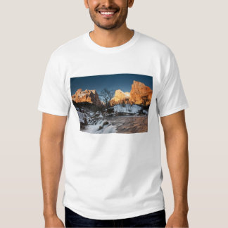 USA, Utah, Zion National Park. Mountain sunrise Tee Shirts
