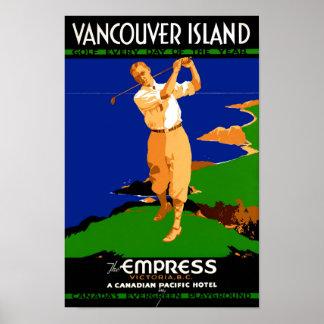 USA Vancouver Island Vintage Poster Restored