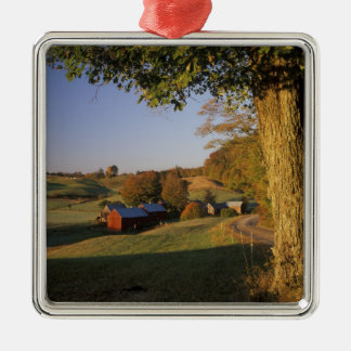 USA, Vermont, south Woodstock, Jenne Farm at Silver-Colored Square Decoration