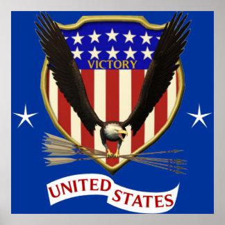 USA Victory Eagle Poster
