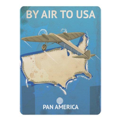 USA Vintage Travel Poster Custom Announcement