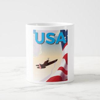 USA Vintage World War Two Poster Jumbo Mug