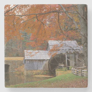 USA, Virginia, Blue Ridge Parkway, Autumn Stone Beverage Coaster
