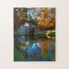 USA, Virginia, Blue Ridge Parkway, Mabry Mill Jigsaw Puzzle