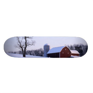 USA, Virginia, Shenandoah Valley, Barn Custom Skate Board