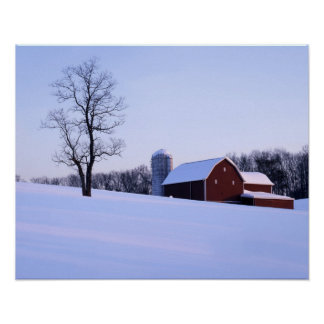 USA, Virginia, Shenandoah Valley, Barn Poster