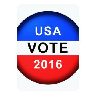USA VOTE 2016 CARD