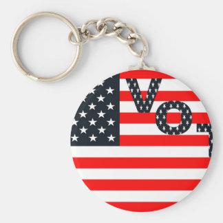 Usa Vote Basic Round Button Key Ring