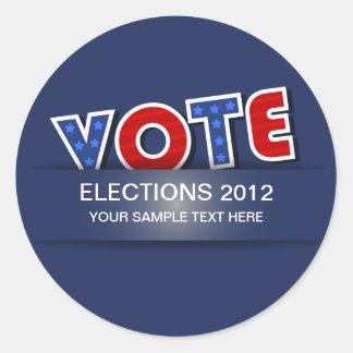 USA Vote Round Sticker