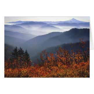 USA, Washington, Columbia River Gorge National Card