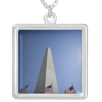 USA, Washington, D.C. American flags at the Square Pendant Necklace