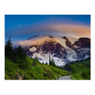USA, Washington, Mt. Rainier. Morning sun Postcard