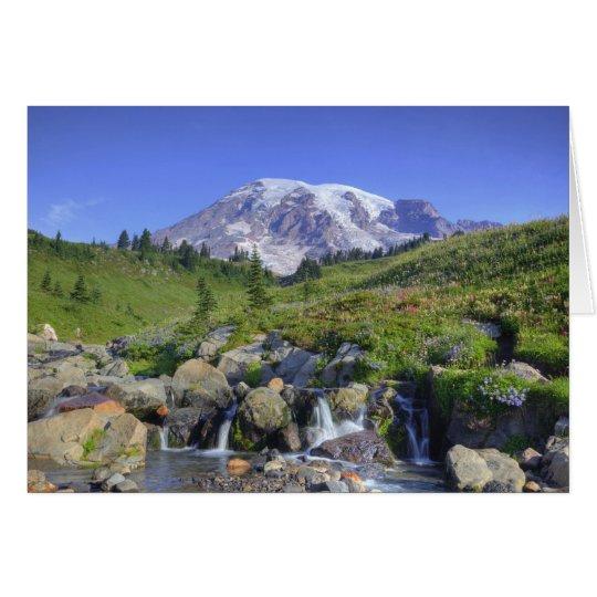 USA, Washington, Mt. Rainier NP, Mt. Rainier and 2 Card