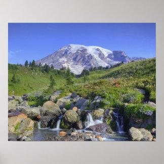 USA, Washington, Mt. Rainier NP, Mt. Rainier and 2 Poster