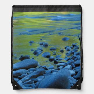 USA, Washington, Olympic National Park 4 Drawstring Bags